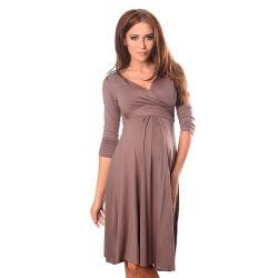 Robe grossesse et allaitement cache coeur - Cappuccino