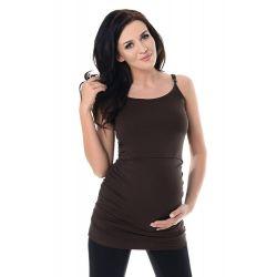 Débardeur-grossesse-et-allaitement-marron-face