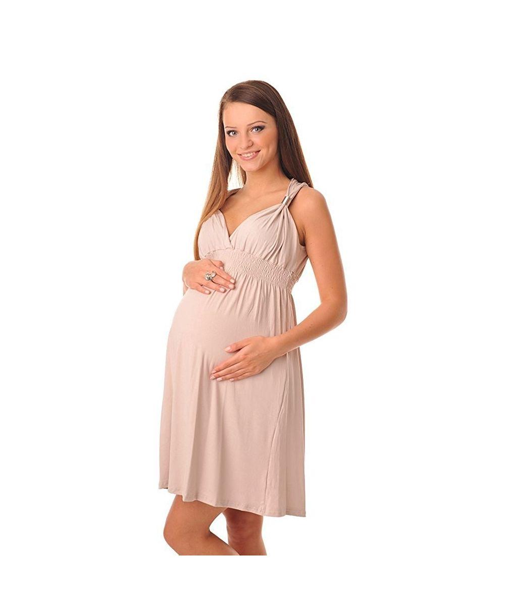 robe de grossesse t bretelles col cache coeur dressing maternity. Black Bedroom Furniture Sets. Home Design Ideas