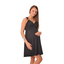 Robe bretelles grossesse et allaitement - Noire