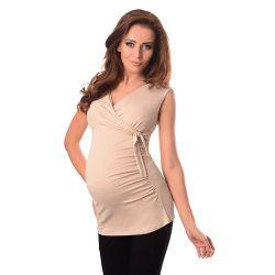 Top de grossesse noué sans manches BE