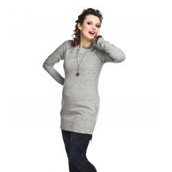 Robe pull de grossesse asymétrique