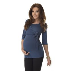 Top-grossesse-et-allaitement-ceinture-nouée-bleu-profil