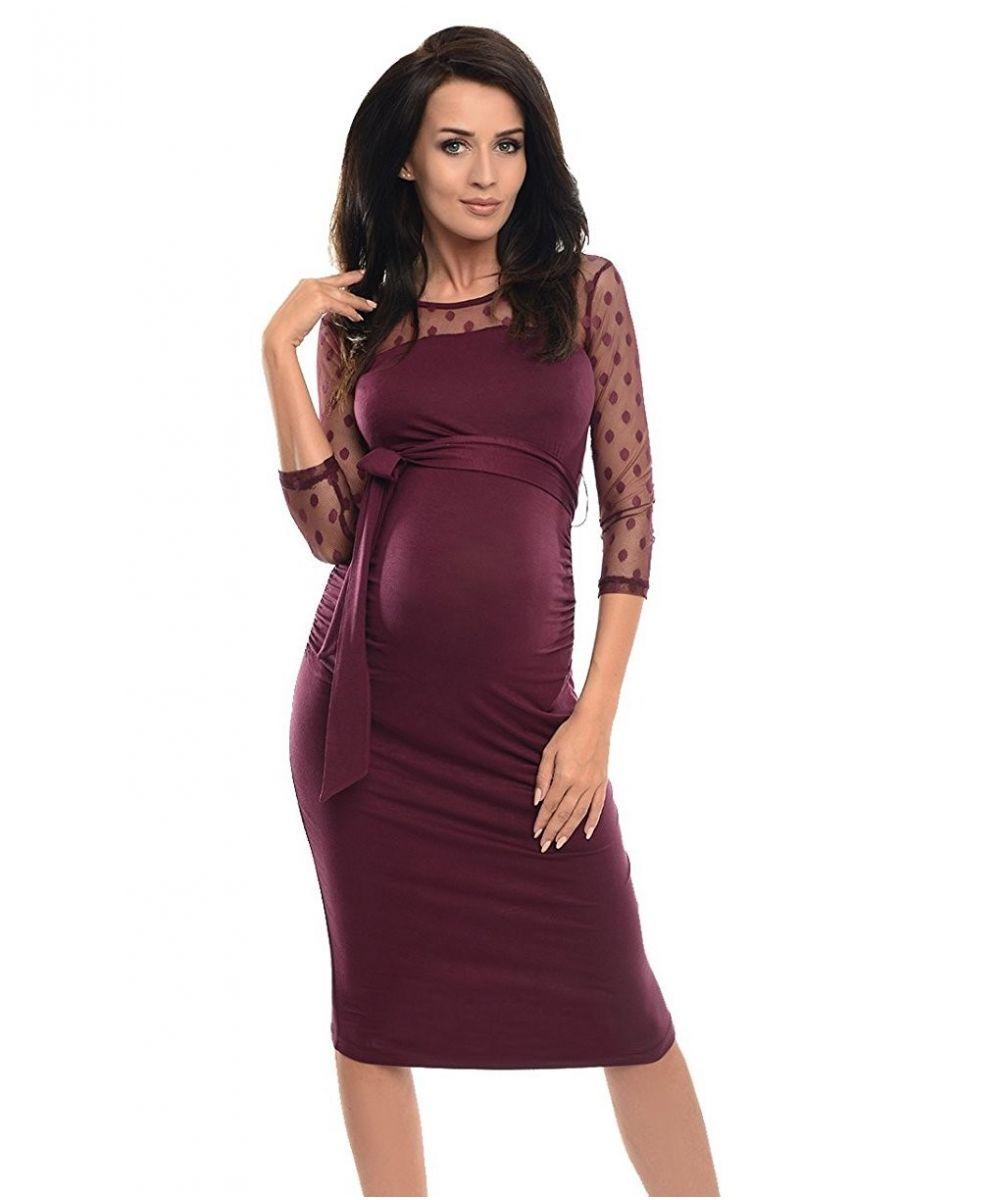 ad288f88250 Robe de grossesse habillée manches fine dentelle - Dressing Maternity