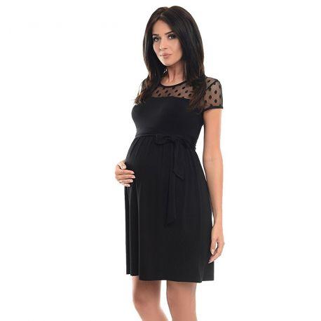 Robe-grossesse-épaules-dentelle-noire