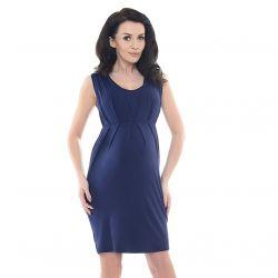 Robe de grossesse sans manches - Bleue