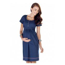 Robe de grossesse Marina - Bleue marine