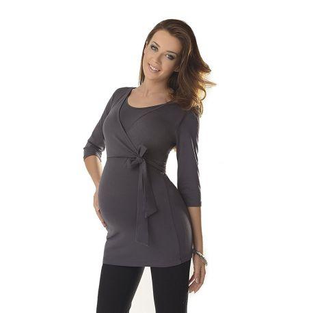 Top-grossesse-et-allaitement-ceinture-nouée-graphite