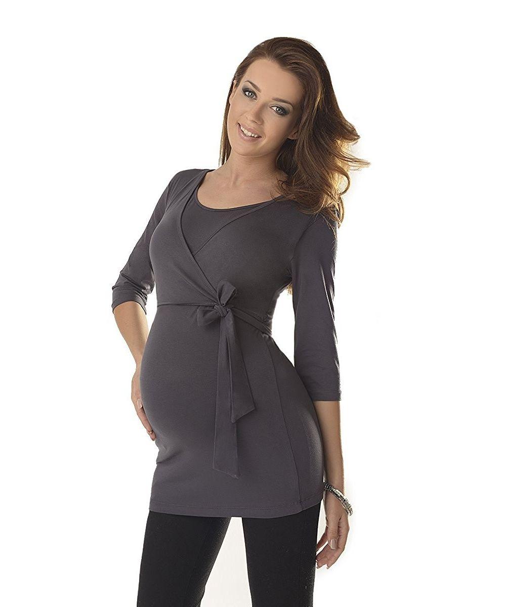 Haut de grossesse et allaitement ceinture nouée - Dressing Maternity b6bed9741f2