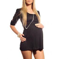 Tunique de grossesse manches 3/4 - Noire