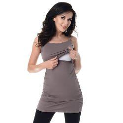 Débardeur grossesse et allaitement - Cappuccino
