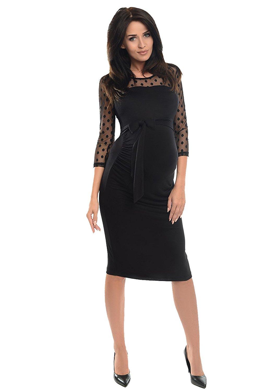 robe-grossesse-soiree-dentelle-noire